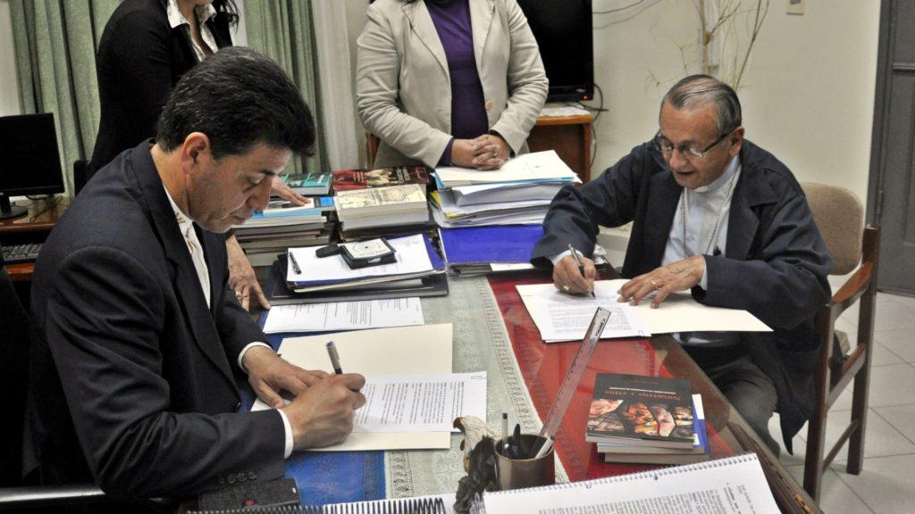 Firma de Convenio Marco entre la UNP y la Diócesis de San Juan Bautista Misiones